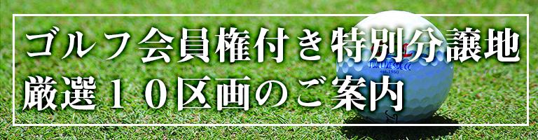 ゴルフ会員権付特別分譲地