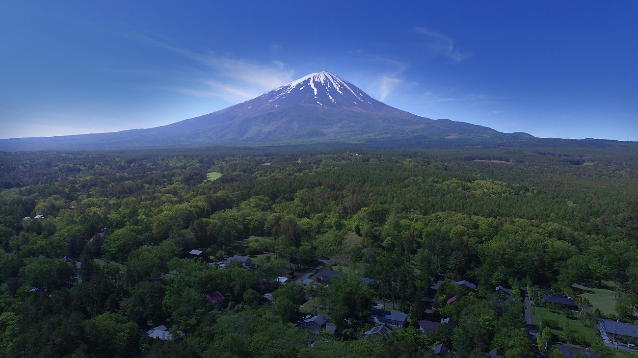 富士桜高原別荘地空撮01