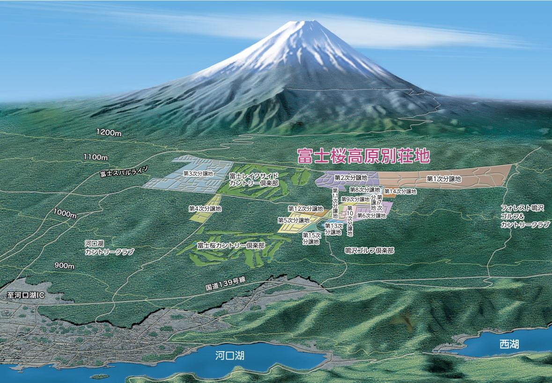 富士桜高原別荘地マップ